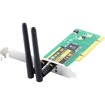 Sabrent - PCI-802N Wireless 802.11n/b/g PCI Network Card, 300Mbps, 64/128BIT WEP/WPA Encryption - PC/Mac/Linux