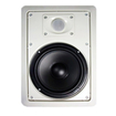 Acoustic Audio - MT8 300 Watt In-Wall/Ceiling Home Theater Surround Sound Speaker - White