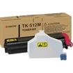 Kyocera - For Use in Fsc5020N Fsc5030N 8000 Page Yield Tk512 - Magenta