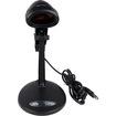 AGPtek - Black USB Handheld Automatic Scanning Laser Barcode Scanner Bar Code Reader with Stand - Black