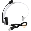 eForCity - Bluetooth Headset Compatible With Sony Playstation PS3 Slim - Silver - Silver