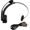 eForCity - Wireless Microphone Bluetooth Headset Compatible With Sony Playstation 3 PS3 Slim - Black - Black