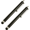 DrHotDeal - iPad Capacitive Stylus (2-Pack) - works w/ iPad HP TouchPad iPhone 4/4S & other touchscreen Devices - Black - Black
