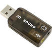 eForCity - USB 3d Audio Sound Card MicroPhone Headset Adapter
