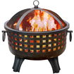 Landmann - GARDEN LIGHTS Portable Wood Fireplace - Outdoor Usage - Antique Bronze - Antique Bronze