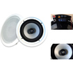 Acoustic Audio - iC8 360 Watt Pair 82-Way In-Wall/Ceiling Home Speakers - White