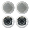 Acoustic Audio - Acoustic Audio CS-IC42 In Ceiling Speaker 2 Pair Pack Home 600 Watt CS-IC42-2Pr - White