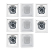 Acoustic Audio - I42S 8-150 Watt 4 2-Way Home Theater In-Wall/Ceiling Speakers