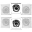 Acoustic Audio - Acoustic Audio CS-I52S In Wall In Ceiling Speakers 1200W 3 Pair Pack CS-I52S-3Pr