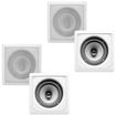Acoustic Audio - I62S 4-250 Watt 6.5 2-Way Home Theater In-Wall/Ceiling Speakers - White