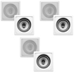 Acoustic Audio - I62S 6-250 Watt 6.5 2-Way Home Theater In-Wall/Ceiling Speakers - White