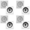 Acoustic Audio - I62S 8-250 Watt 6.5 2-Way Home Theater In-Wall/Ceiling Speakers - White