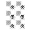 "Acoustic Audio - Acoustic Audio CS-I82S In Wall Ceiling 8"" Speakers 6 Pair Pack 3600W CS-I82S-6Pr - White"