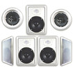 "Acoustic Audio - HT-67 1750W 2-Way 6.5"" In-Wall/Ceiling Speaker System - White"