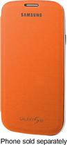 Samsung - Flip-Cover Case for Samsung Galaxy S III Cell Phones - Orange - Orange