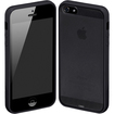 Cimo - Hybrid Hard Back Cover Bumper Case for Apple iPhone 5 New 5G 6th Generation - Black - Black