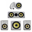 Acoustic Audio - Acoustic Audio HD516 In-Wall/Ceiling Home Theater Surround 5.1 Speaker System - White