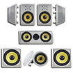 """Acoustic Audio - Acoustic Audio HD728 In-Wall/Ceiling Home Theater 7.2 Surround 8"""" Speaker System - White"""