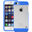 Fosmon - HYBO Series Hard PC Silicone TPU View Case Cover for Apple iPhone 5 - Transparent Blue - Transparent Blue