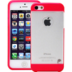 Fosmon - HYBO Series Hard PC Silicone TPU View Case Cover for Apple iPhone 5 - Transparent Pink - Transparent Pink