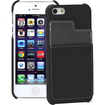 GreatShield - Guardian Series Slim Leather Dual Pocket Case Cover for Apple iPhone 5 - Black, Grey - Black, Grey