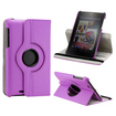DrHotDeal - 360 Degree Rotating PU Leather Case Cover Swivel Stand for Google Nexus 7 Asus Tablet - Purple