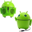 GOgroove - Pal Bot Rechargeable Portable Android Speaker System with Dual 40MM Drivers/3.5mm AUX - Green
