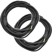 Seismic Audio - 2 Pack 1/8 (3.55mm) 25' Extender Patch Cables for iPod iPhone iPad Android MP3 - Black - Black