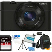Sony - Bundle DSC-RX100 20.2 MP 3.6x zoom, Large Exmor lowlight CMOS Sensor Camera