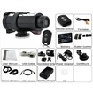 AGPtek - HD 720P Waterproof 2.4G Wireless Video Action Camera Sport Cam Camcorder 5MP CMOS - Black