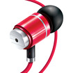 GOgroove - AudiOHM BPM High Fidelity Noise Isolating Earbuds w/ Custom Fit Silicone Gels & Case - Red - Red
