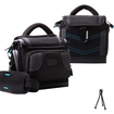 USA Gear - Deluxe Digital SLR Camera Case Bag w/ Padded Interior for Nikon Cameras D3200, D7100, D5200 & More