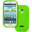Empire - Flexible S-Shape Poly Skin Case For Samsung Galaxy S III Mini I8190 - Neon Green - Neon Green