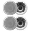 Acoustic Audio - Acoustic Audio CS-IC52 In Ceiling Speaker 2 Pair Pack Home 800 Watt CS-IC52-2Pr - White