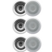 Acoustic Audio - 6CS-IC62 250W 6.5 2-Way Home Theater In-Wall/Ceiling Speakers - White
