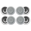 Acoustic Audio - 8CS-IC62 250W 6.5 2-Way Home Theater In-Wall/Ceiling Speakers - White