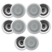 Acoustic Audio - 10CS-IC62 250W 6.5 2-Way Home Theater In-Wall/Ceiling Speakers - White