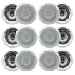 Acoustic Audio - 12CS-IC62 250W 6.5 2-Way Home Theater In-Wall/Ceiling Speakers - White