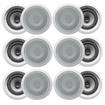 "Acoustic Audio - Acoustic Audio CS-IC82 In Ceiling 8"" Speaker 6 Pair Pack 3600W New CS-IC82-6Pr - White"