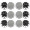 "Acoustic Audio - Acoustic Audio CS-IC63 In Ceiling 6.5"" Speaker 6 Pairs 3 Way 3600W CS-IC63-6Pr - White"