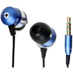GOgroove - HF Headset Earbuds for Apple, Samsung, HTC, LG, Motorola, Nokia - Blue - Blue