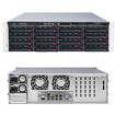 Super Micro - SuperServer Barebone System - 3U Rack-mountable - Intel C602 Chipset - Socket R LGA-2011 - Black