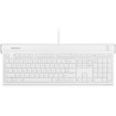 Macally - USB 2.0 Slim Keyboard with Shortcut Function Keys - White - White