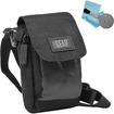 USA Gear - Premium Mini Digital Sports Video Camera/ Camcorder Carrying Bag Case Pouch with Shoulder Strap - Black