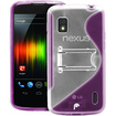 Fosmon - Google Nexus 4 PC Hard (TPU) Skin Case Cover with kickstand - Purple - Purple