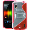 Fosmon - Google Nexus 4 PC Hard (TPU) Skin Case Cover with kickstand - Pink - Pink