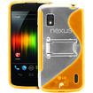 Fosmon - Google Nexus 4 PC Hard (TPU) Skin Case Cover with kickstand - Orange - Orange