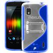 Fosmon - Google Nexus 4 PC Hard (TPU) Skin Case Cover with kickstand - Blue - Blue