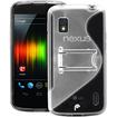 Fosmon - Google Nexus 4 PC Hard (TPU) Skin Case Cover with kickstand - Black - Black