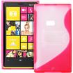 Fosmon - Nokia Lumia 920 4G PC Hard (TPU) Skin Case Cover with kickstand - Pink - Pink